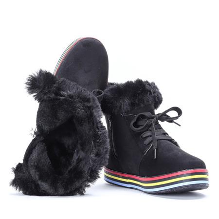 Czarne botki sportowe Raelyn - Obuwie