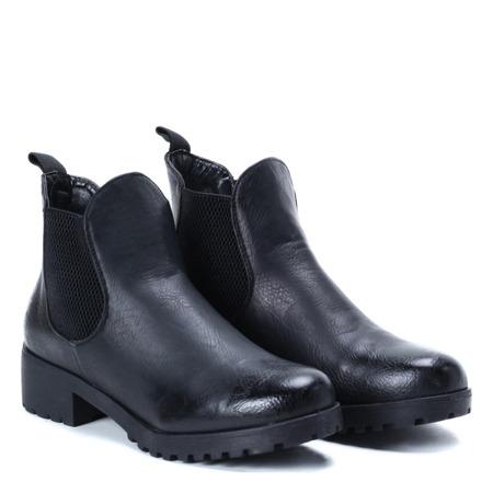 Czarne botki z elastyczną cholewką Winona - Obuwie