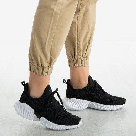 Czarne buty sportowe Parisa - Obuwie