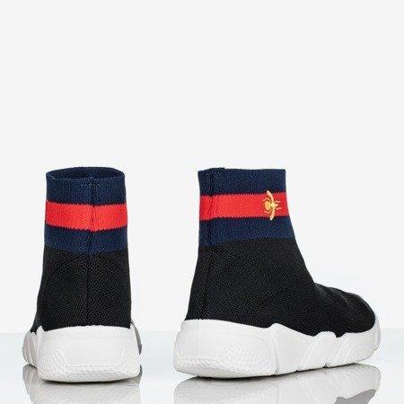 Czarne buty sportowe damskie Musca - Obuwie