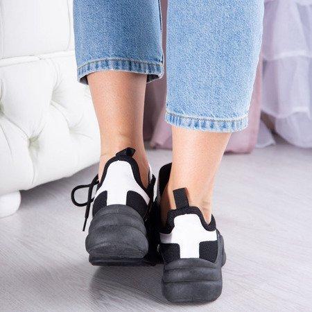Czarne buty sportowe z białymi wstawkami Irrmessia - Obuwie