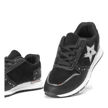 Czarne buty sportowe z gwiazdką Emiliana - Obuwie
