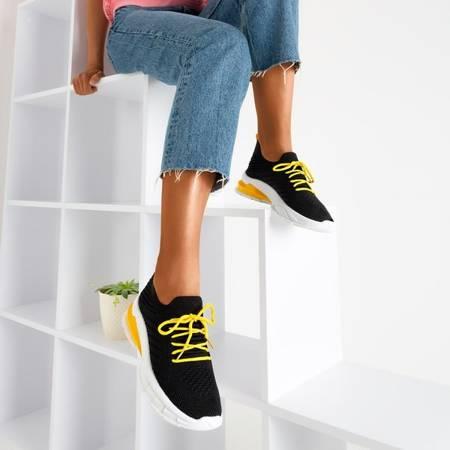 Czarne buty sportowe z żółtą wstawką Extrim - Obuwie