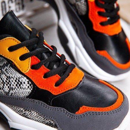 Czarne buty ugly shoes ze wstawkami Nikaragua - Obuwie