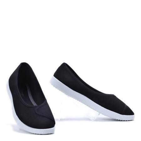 Czarne casualowe balerinki Antonetta- Obuwie
