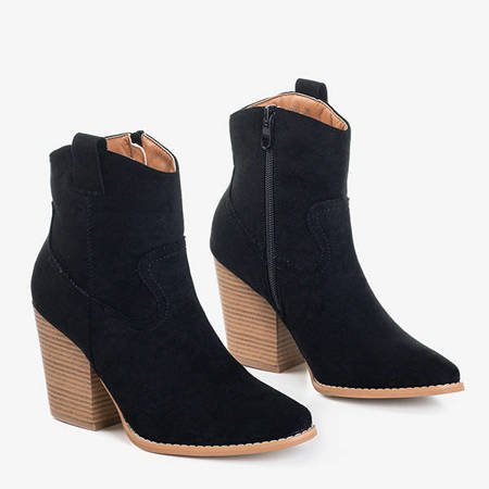 Czarne damskie botki a'la kowbojki Vitella - Obuwie