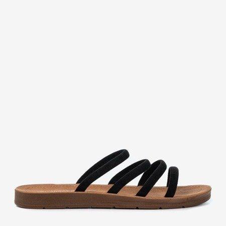 Czarne damskie klapki Dequissa - Obuwie