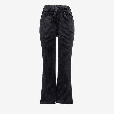 Czarne damskie spodnie proste - Spodnie