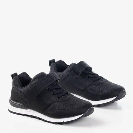 Czarne dziecięce buty z matowej eko-skóry Craizy - Obuwie