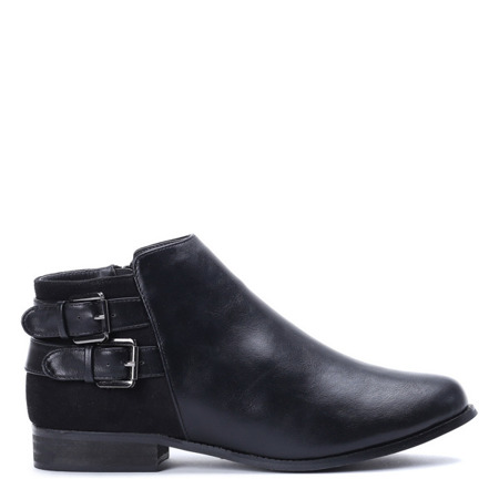 Czarne, eleganckie botki - Obuwie