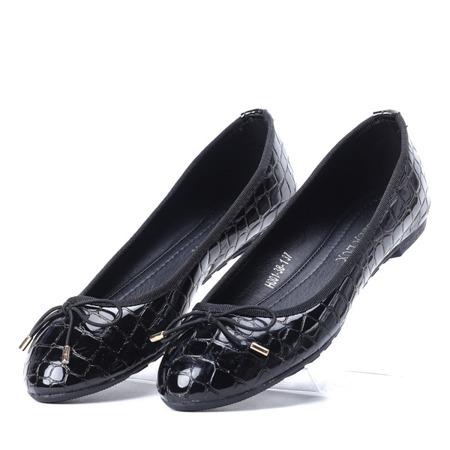 Czarne, klasyczne baleriny Jovitt - Obuwie