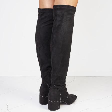 Czarne kozaki z cholewką za kolano Canadian - Obuwie