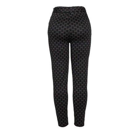 Czarne legginsy z printem - Spodnie