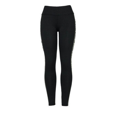 Czarne legginsy z wysokim stanem - Spodnie