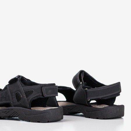 Czarne męskie sandały Brendon- Obuwie