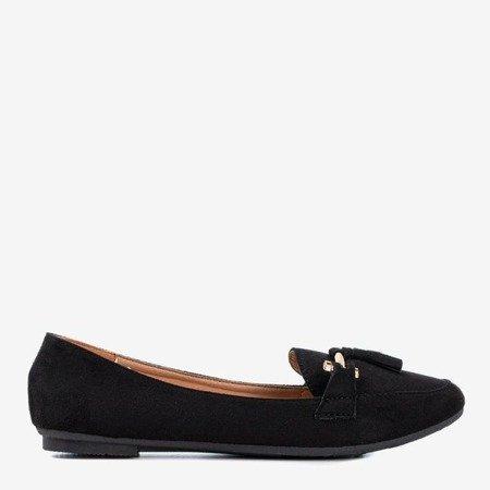 Czarne mokasyny damskie Seraphini - Obuwie
