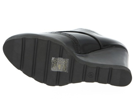 Czarne na koturnie w kolorze khaki Lossenda - Obuwie