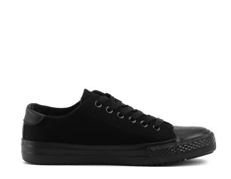 Czarne, niskie trampki - Obuwie