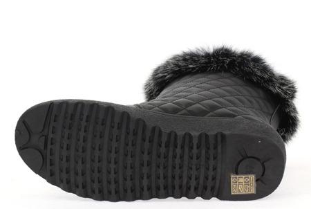 Czarne, ocieplane śniegowce - Obuwie