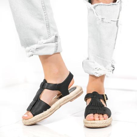 Czarne sandały Amaro - Obuwie