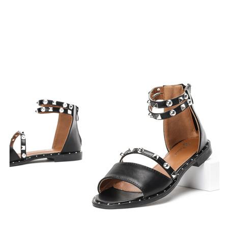 Czarne sandały z ćwiekami Spica - Obuwie