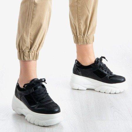 Czarne sneakersy damskie Street Spirit - Obuwie