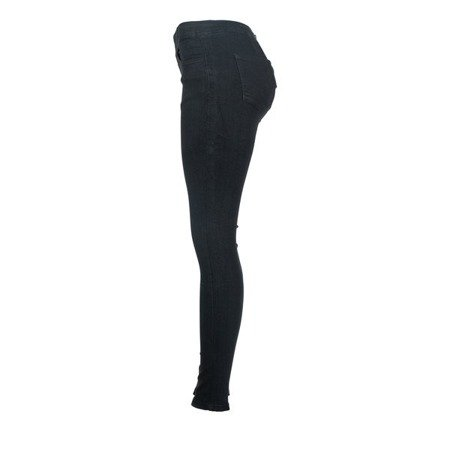 Czarne spodnie z elastycznego materiału - Spodnie