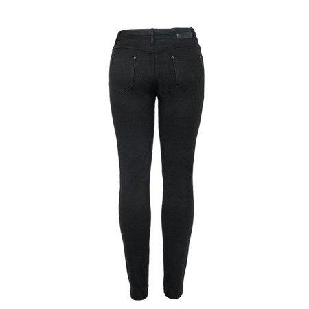 Czarne spodnie z paskami - Spodnie