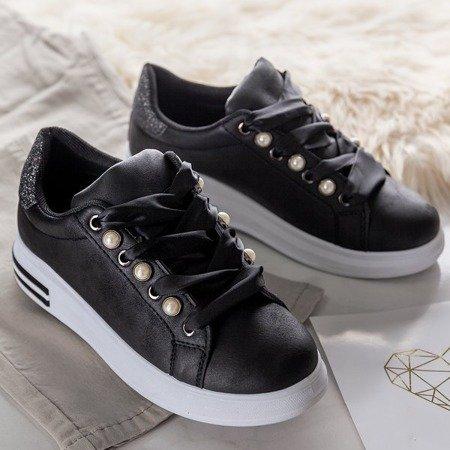 Czarne sportowe buty na platformie Limbo - Obuwie