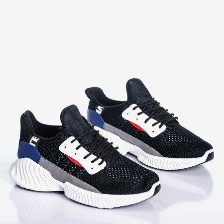 Czarne sportowe buty z kolorowymi wstawkami Roviane - Obuwie
