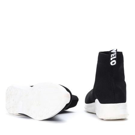 Czarne sportowe buty z ozdobną skarpetką Benita - Obuwie
