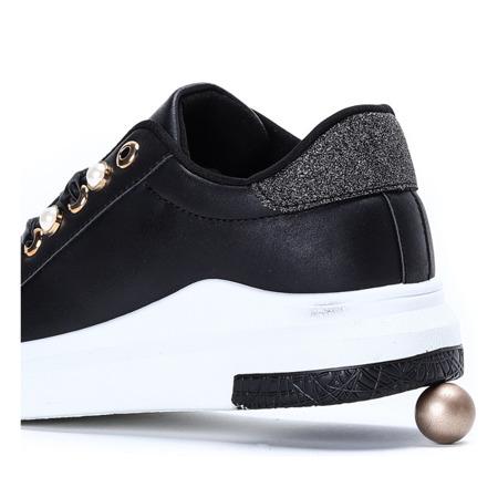 Czarne tenisówki na platformie Mariam- Obuwie