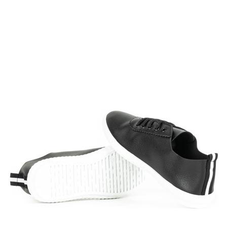 Czarne tenisówki sznurowane Olimpik - Obuwie