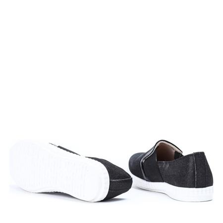 Czarne tenisówki typu slip on Ampelia - Obuwie