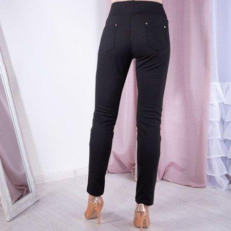 Czarne tregginsy z kieszeniami - Spodnie