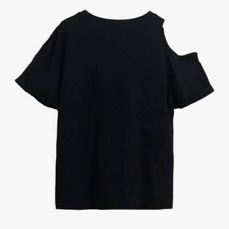 Czarny t-shirt damski Myszka Minnie - Odzież