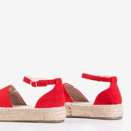 Czerwone damskie espadryle na platformie Maritel - Obuwie