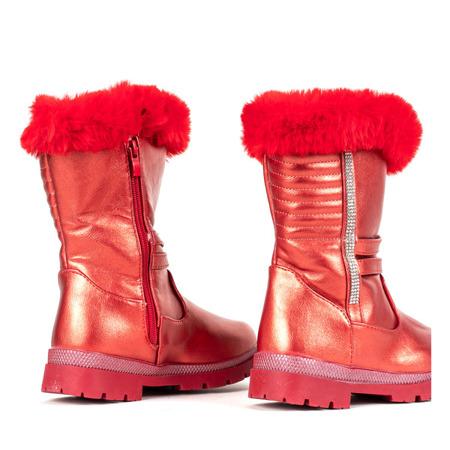Czerwone dziecięce śniegowce Lotus - Obuwie