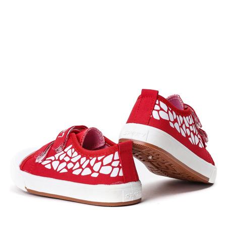 Czerwone dziewczęce trampki Bammbino - Obuwie