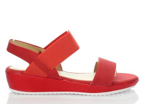 Czerwone sandały Akurima - Obuwie