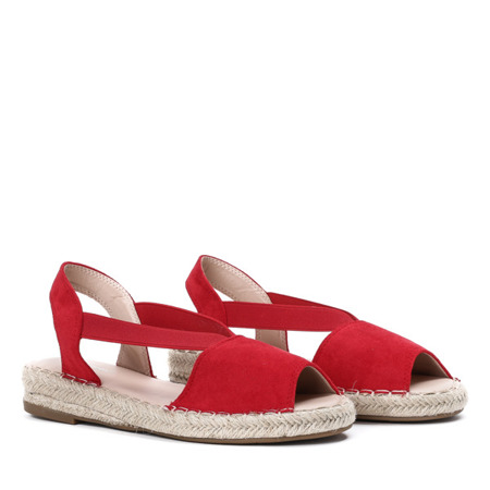 Czerwone sandały a'la espadryle Go Solo - Obuwie