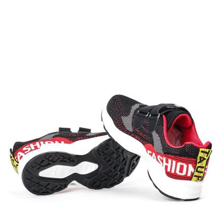 Dziecięce czarne buty na rzepy Oniferi - Obuwie