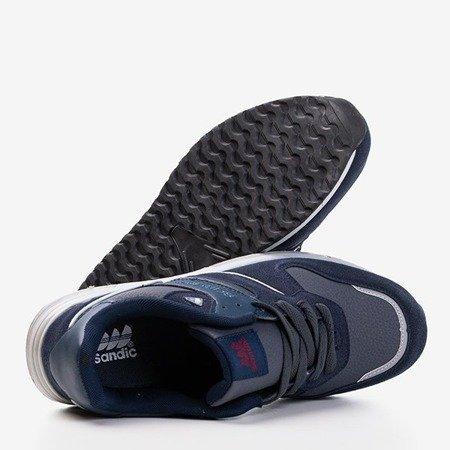 Granatowe męskie sportowe buty Mubert - Obuwie
