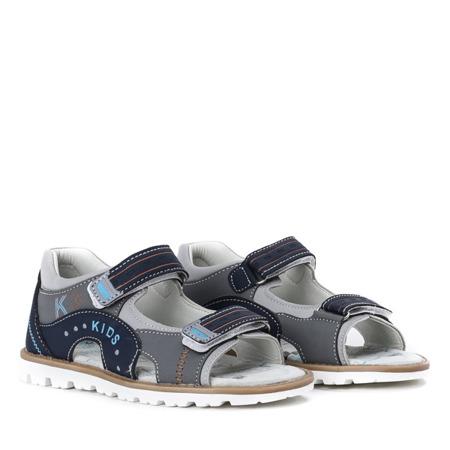 Granatowe sandały chłopięce z zapiętkiem Eneki - Obuwie