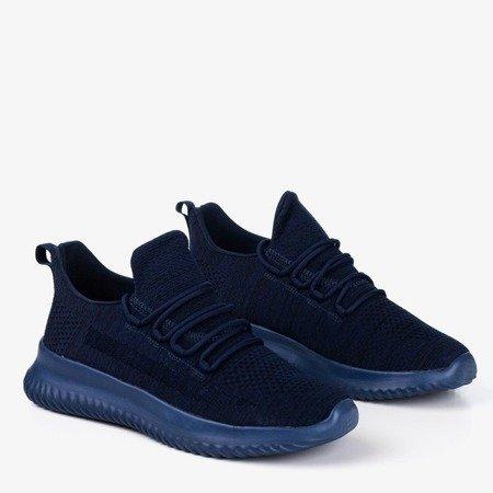 Granatowe sportowe buty męskie Yomeq - Obuwie