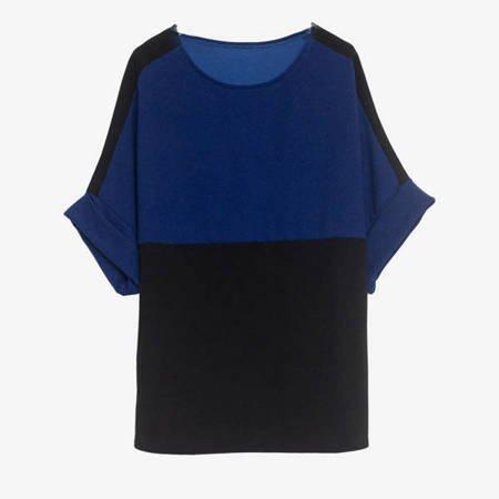 Granatowo - czarny komplet dresowy - Odzież