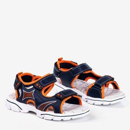 Granatowo-pomarańczowe chłopięce sandały Hanoi - Obuwie