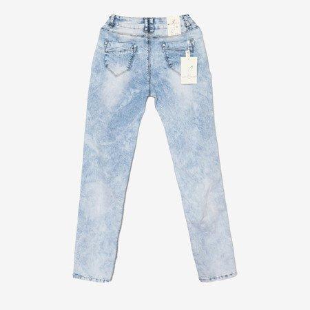 Jasnoniebieskie damskie rurki jeansowe - Odzież