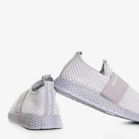 Jasnoszare sportowe buty damskie typu slip - on Andalia - Obuwie
