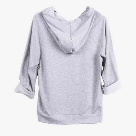 Jasnoszary komplet dresowy z perełkami - Odzież